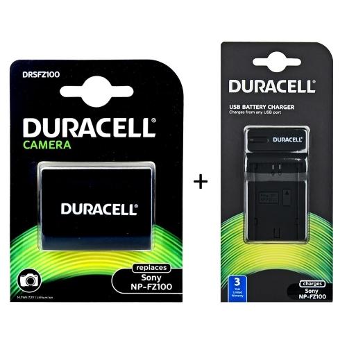 Duracell DRSFZ100 + DRS5961 akumulator + ładowarka do Sony NP FZ100